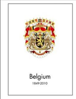 Belgium Stamp Album Pages CD 1849 2011 539 Color Illustrated Pages