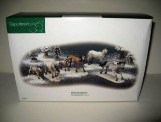 Set of 5 Horses Snow Dickens Seasons Bay Village Christmas