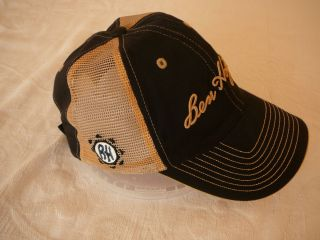 Ben Hogan Peaked Golf Cap Hat Black Mesh Side Quality Tour Authentic