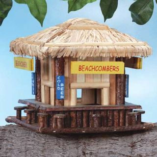 wood beachcombers beach birdhouse bird house perch description