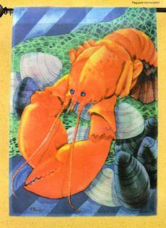 Red Lobster House Flag Large 28 x 40 Nautical Garden Beach Decor