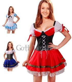 Sexy Red Beer Girl Cosplay Fancy Dress Costume L suitable temptation