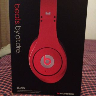 Beats by Dr Dre Studio Headphones Red Real