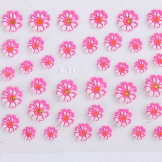New 12 Sheets 3D Colorful Nail Art Manicure Decal Stickers Tips DIY