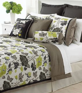 Stewart Layered Flowers 4 Piece Twin Comforter Bed In A Bag Set NEW