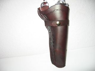 Western Leather Gun Holster for Ruger Single Six .22 Cal revolver