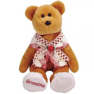 Ty Beanie Baby grams e Grandmoer Bear Internet Exclusive 9 Inch