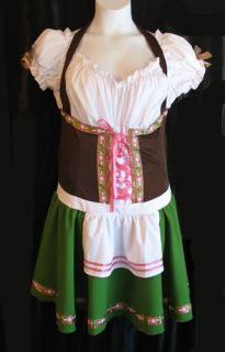 Leg Avenue German Beer Girl Peasant Gretchen Sexy Costume Dress 14 16