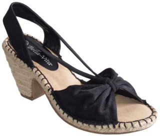 Bella Vita Silk Fabric Espadrille Womens Sandal Mid High Heel Shoes