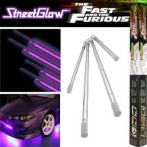 StreetGlow Fast and Furious Pink Fusion Under Car Neon Light Kit NEW
