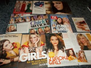 Broke Girls Cast Kat Dennings Beth Behrs clippings T2