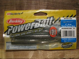 Berkley Power Bait 4 Fishing Lures Finesse Worms Holographic Shad