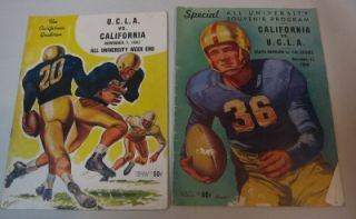 California Cal Bears Football vs UCLA Bruins Programs 1948 1970 Lot of