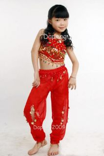 Girl Belly Dancing Clothes for Peppers Top Lantern Pants DP001