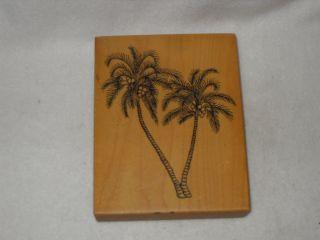 PSX Rubber Stamp Palm Trees K 1451 1995 Medium Scene Maker Free Stamp