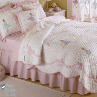 Children Kid Quilt Ballerina Bedding Set for Twin Full Queen