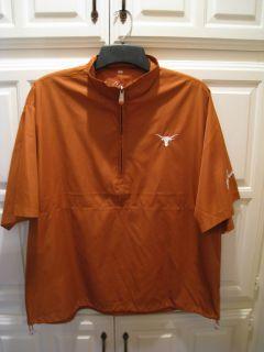Ben Crenshaw Texas Longhorns Orange Short Sleeve Golf Pullover Jacket