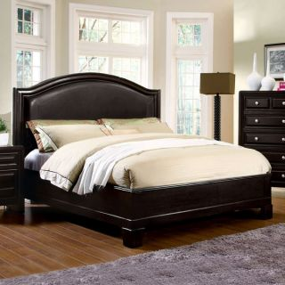 Solid Wood Winsor Espresso Finish Platform Bed Frame Set