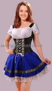 Sexy Blue Dutch Beer Girl Adult Costume Party Dress s Magnificent Sgnd