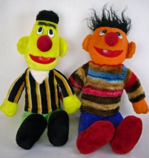 Sesame Street 20 Bert Ernie Vintage Plush Dolls RARE