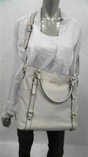 Michael Kors Bedford Tote Large Double Strap Vanilla Handbag Bag Purse