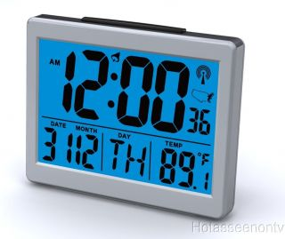 Atomic Desk Bedroom Alarm Clock 1 5 Time Number Back Blue Light Brand
