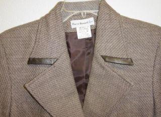 EUC Cute Harve Benard Sport 100 Wool Blend Brown Jacket Blazer Size 10