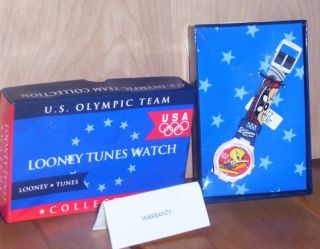 1996 Looney Tunes Tweety Bird Olympic Watch U S Taz Bugs Bunny
