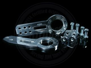 BENEN POLISHED FRONT & REAR TOW HOOK SET HONDA CIVIC FIT ACURA INTEGRA