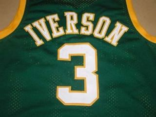 ALLEN IVERSON BETHEL HIGH SCHOOL JERSEY GREEN NEW ANY SIZE BFV