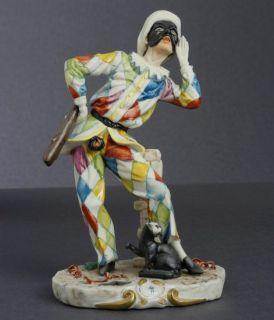 Porcellane Capodimonte Maschera Carnevale Arlecchino