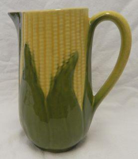 Vintage Shawnee Pottery Corn King Cob Large Pitcher USA 71 Yellow