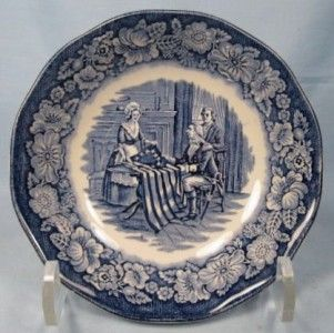 betsy ross liberty blue dessert fruit sauce bowl o