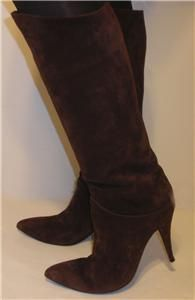 Susan Bennis Warren Edwards Brown Suede Calf Boots 10