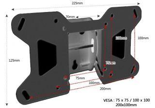 LCD LED Plasma Flat Tilt TV Wall Mount 17 32 VESA75 100 200 x 100mm