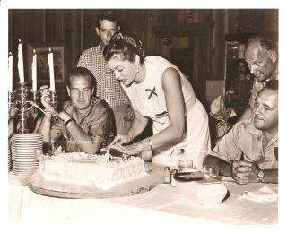 Esther Williams Ben Gage Orig Agency w Caption 1954
