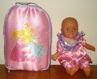 15 Baby Doll Disney Princess with Backpack Carrier Diaper Bag by