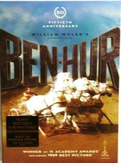 Ben Hur Fiftieth Anniversary Charlton Heston NEW Christian DVD