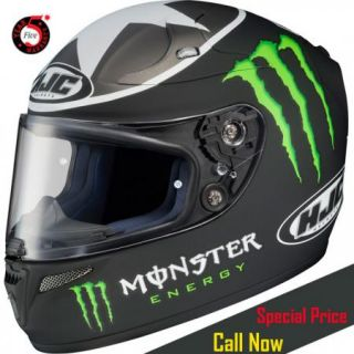 HJC RPS 10 Ben Spies Monster Replica Full Face Motorcycle Helmet