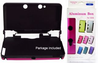 New Pink Plastic Hard Metal Case Cover for Nintendo 3DS