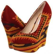 Womens Steve Madden Pammyy Closed Toe Wedge Aztec Multi