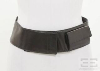 prada black leather velcro pocket belt