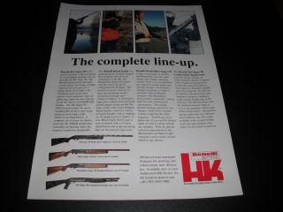 HK Heckler Koch Benelli M1 Super 90 Black Eagle Montefeltro 1990 Print