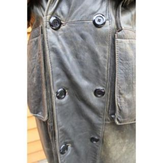 Benet Melsion Leather Military Trench Coat $2 5K 100 Authentic