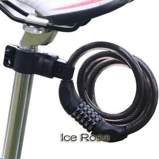 digital bike bicycle code combination lock cable chain lock