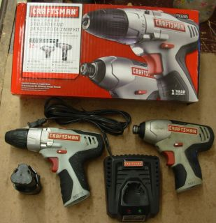 Craftsman Nextec 12 Volt Drill + Impact Driver + Lithium Ion Battery