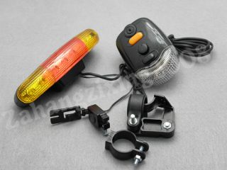 in 1 Bicycle Bike Turn Signal Brake 7 LED Light Horn