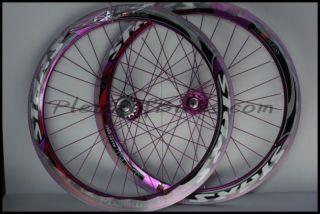 Fixie Single Speed Bike Wheelset Wheels Rim Rims Purple 614118