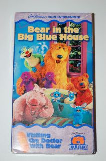 Bear in the Big Blue House VHS Visiting The Doctor With Bear Disney