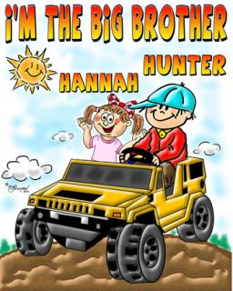 The Big Brother Sister T Shirt Hummer Customized